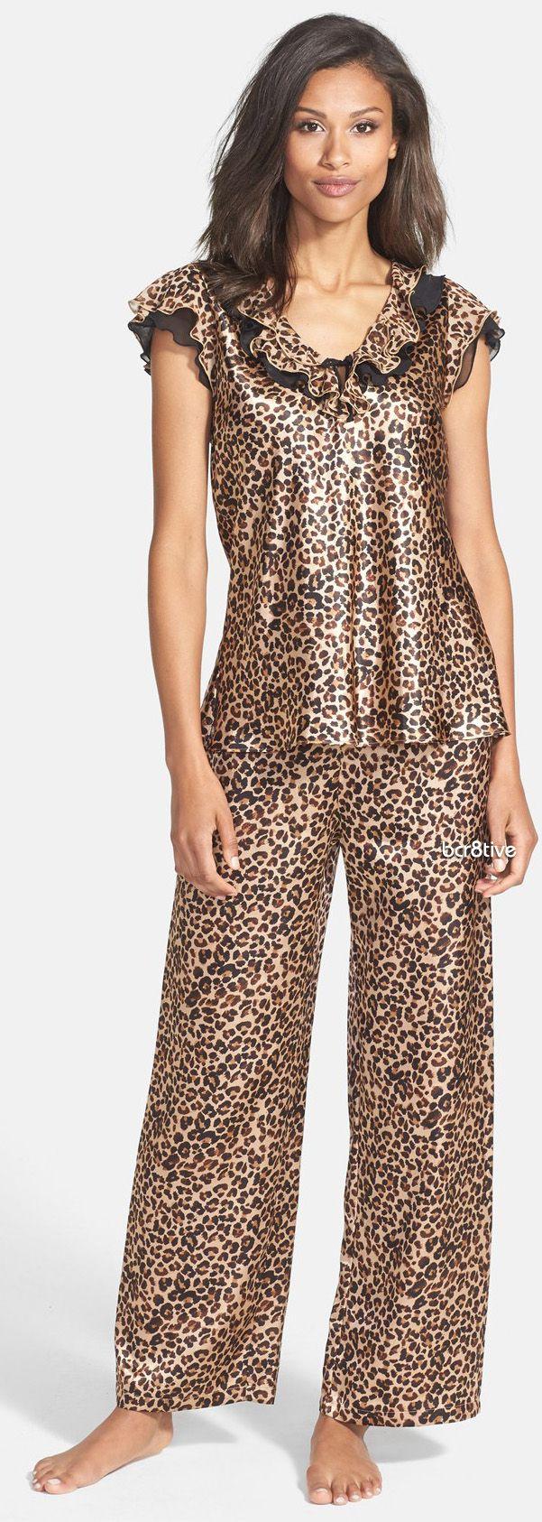 Oscar de la Renta Pajamas #AnimalPrint
