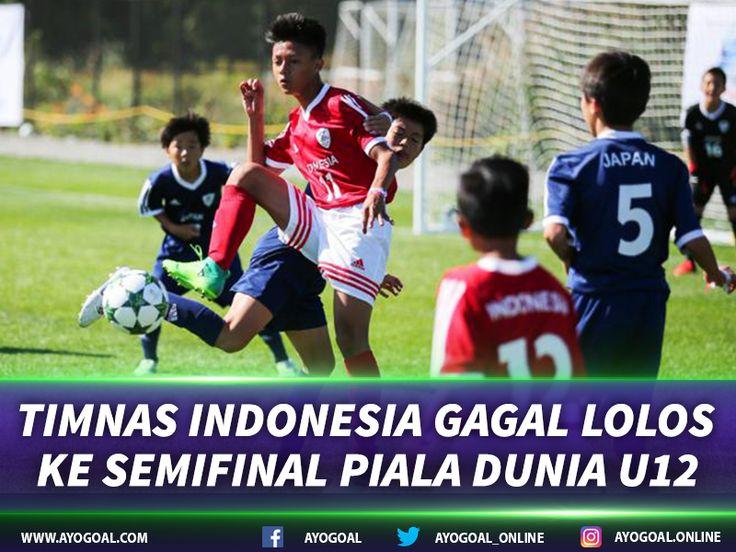 Nobar Bola - Mimpi Garuda-Garuda cilik terbaik Indonesia untuk meraih gelar juara Danone Nations Cup 2017 harus tertunda. Langkah Timnas Indonesia U-12 pun kembali terhenti di babak perempat final dari ajang yang juga disebut sebagai Piala Dunia untuk usia 10-12 tahun tersebut.  Timnas Indonesia U-12 yang diwakili SSB Batu Agung dari Kalimantan Selatan takluk dari Meksiko dengan skor 0-2 dan gagal melaju ke babak semifinal. Hasil kurang oke itu pun sekaligus menghentikan rekor hebat