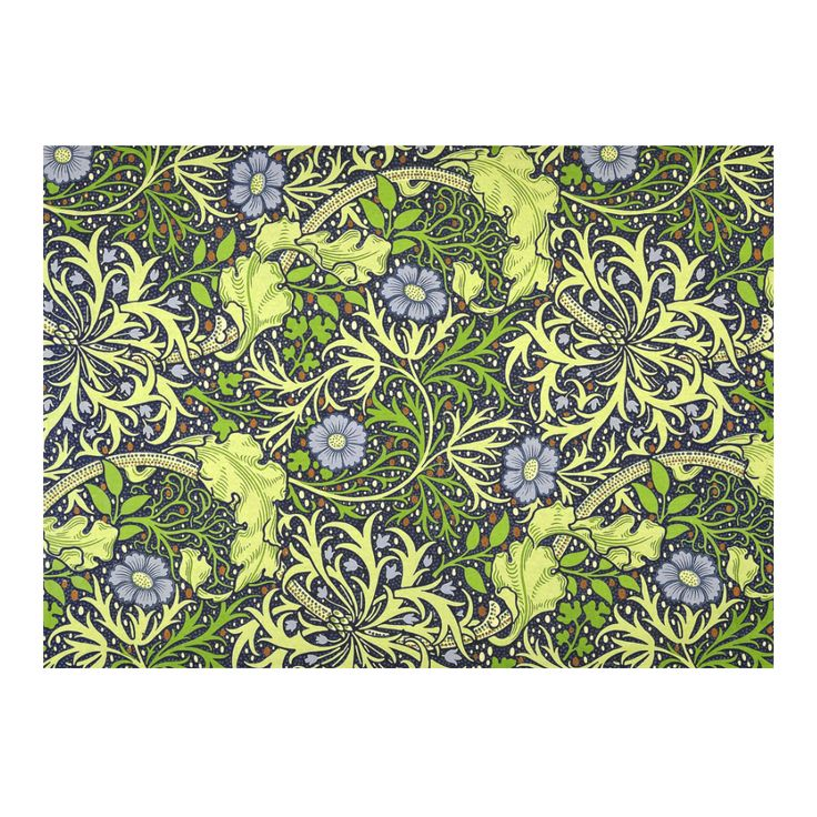 William Morris Seaweed Vintage Floral Wallpaper Cotton