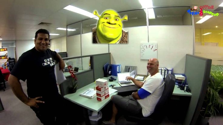 SHREK in Our Office ! Office Antics Startup