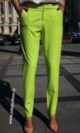 "Pantaloni Dama ""Axel"" Lime Limited Ed. by JukaFashion.ro cod B022"