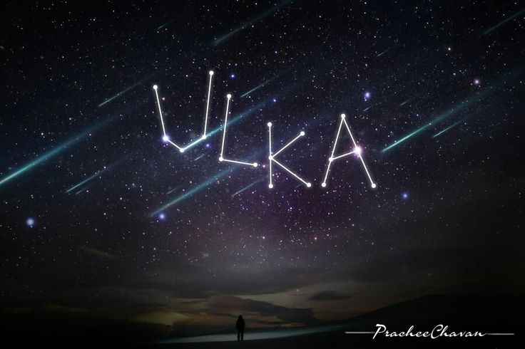 #Calligraphy #Typography # Indian Sanskrit Name # Ulka = Shooting Stars