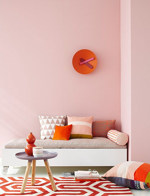 inspirations déco rose et orange