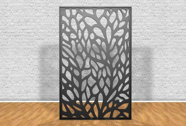 Reja de seguridad de acero al carbono con diseño de árbol cortada con láser - Windoor