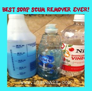 BEST Soap Scum Remover EVER!!!  Easy too!