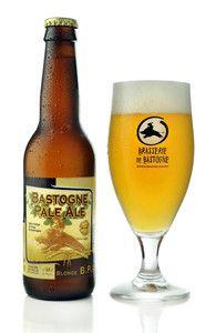 Bastogne Pale Ale beer. Brasserie de Bastogne