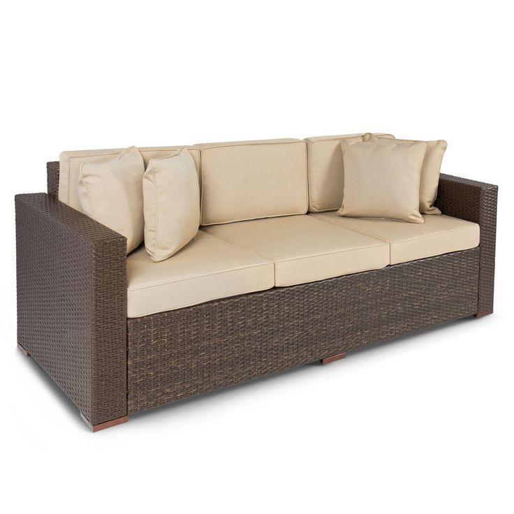 Rattan sofa garten  25+ beste ideeën over Wicker couch op Pinterest - Veranda meubelen ...