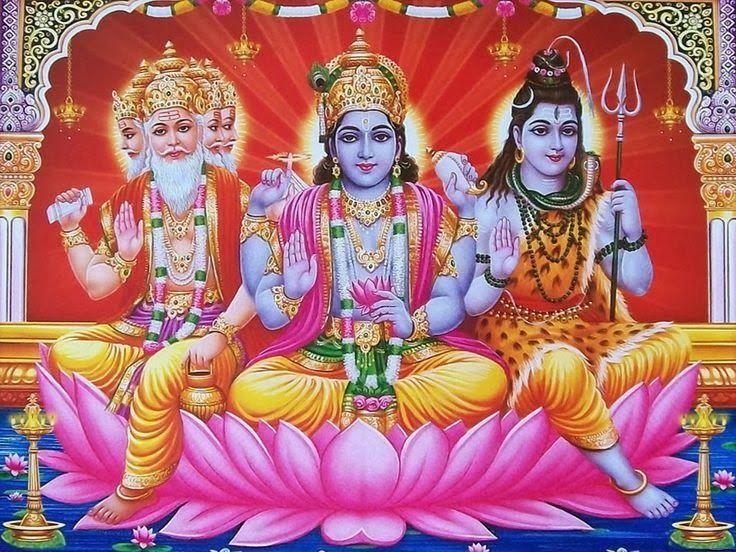 HiNDU GOD: Trimurti-Brahma Vishnu Shiva