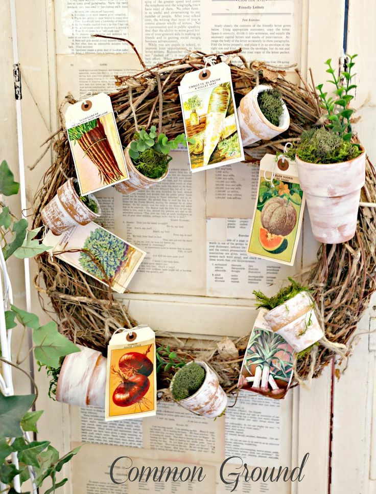 Common Ground: Seed Packet Garden Wreath makes a come back...
