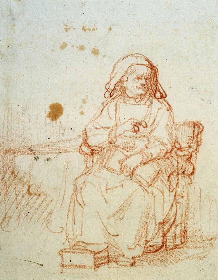 Old lady with glasses by Rembrandt, ca. 1635 (PD-art/old), Ossolineum
