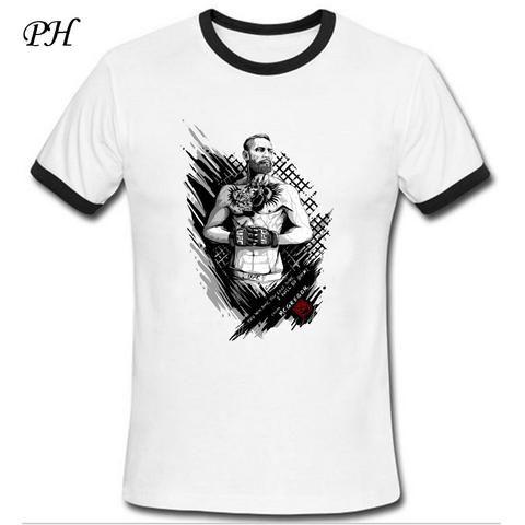 PH New Arrival T shirt Men MMA Tee shirts Conor Mcgregor Printed Ringer t-shirt men funny men boy clothing camisetas