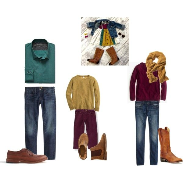 YFamily Photo Shoot Look 2 by sgaffney on Polyvore featuring J.Crew, Frye and Banana Republic: