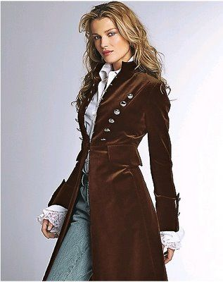 This is going to join my steampunk closet as soon as i can get hold of it. http://2.bp.blogspot.com/_m6Fu1n20nNc/SNEACf31S1I/AAAAAAAAAeY/G9zURQWRlus/s400/military+coat.jpg