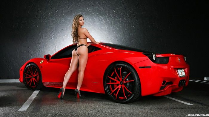 Cool cars with naked girls by them with condoms seems