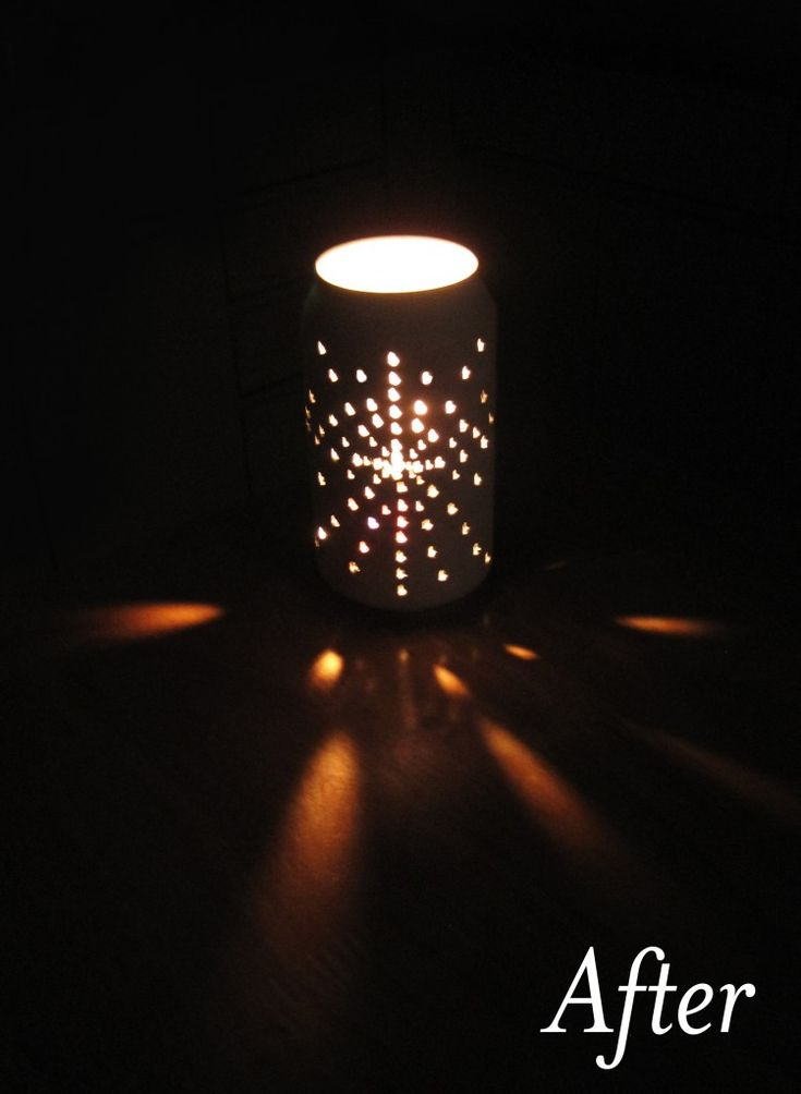 Can tea light holder