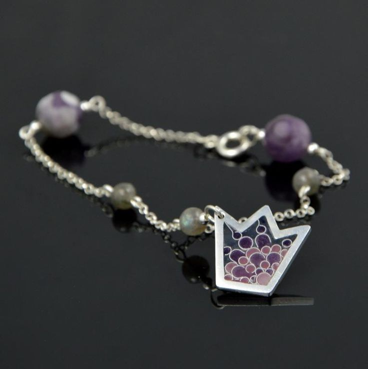 """Bracelet """"Be Queen"""" with amethysts by SamaiaJewellery on Etsy"""