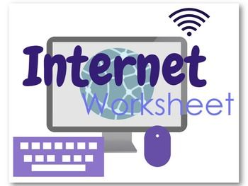 Internet Worksheet FREE * Students will find the definition for each of these 24 computer terms * An answer key is included so that teachers can take up the definitions of the terms with their classes and/or mark student answers