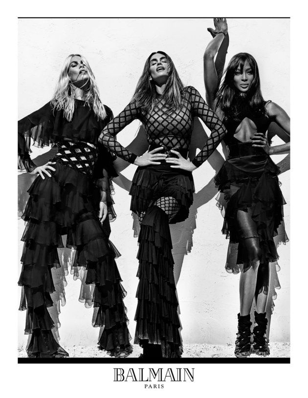 Naomi Campbell, Cindy Crawford and Claudia Schiffer team up for an amazing new Balmain campaign