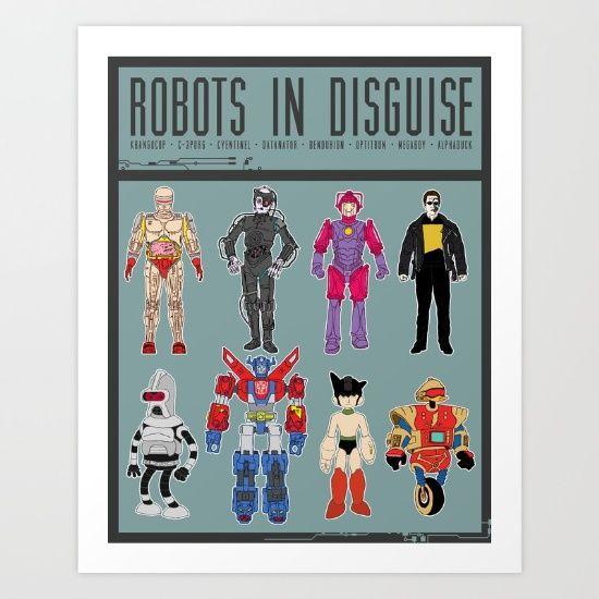 Robots in Disguise Art Print by Josh Ln.