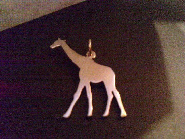 sterling silver giraffe pendant 25mm x 20mm handmade 925, £14.99