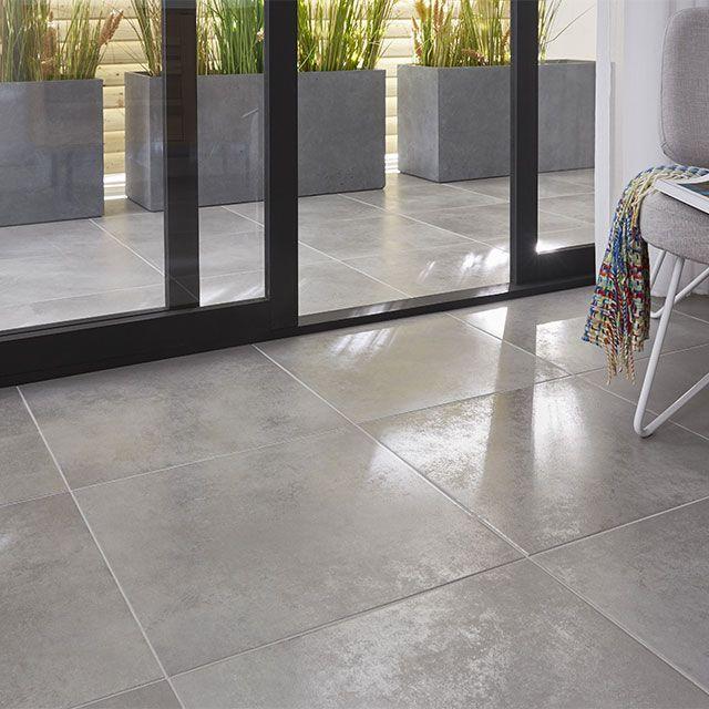 Carrelage sol extérieur gris 50 x 50 cm City (vendu au carton)   Carrelage terrasse, Terrasse ...