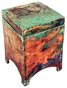 Sarah Duncan. small raku box.