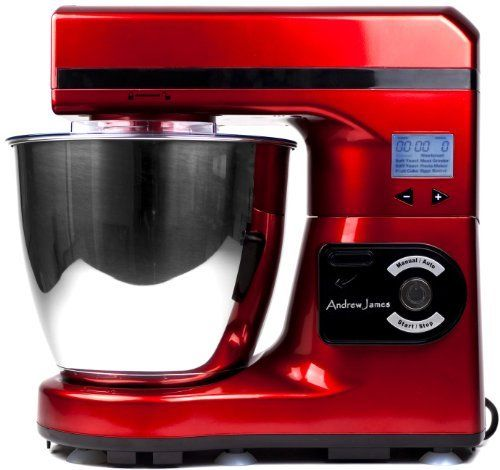 Andrew James Large 7 Litre Automatic Red Food Stand Mixer - Powerful 1000 watt Motor -7 Automatic settings, Digital Control and LCD Display + 128 Page Food Mixer Cookbook , http://www.amazon.co.uk/dp/B008VP6U2S/ref=cm_sw_r_pi_dp_LeYQrb0YF6KZR