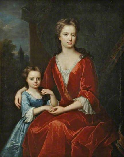 A Lady and a Child, British School, 1710-1725, Walker Art Gallery.