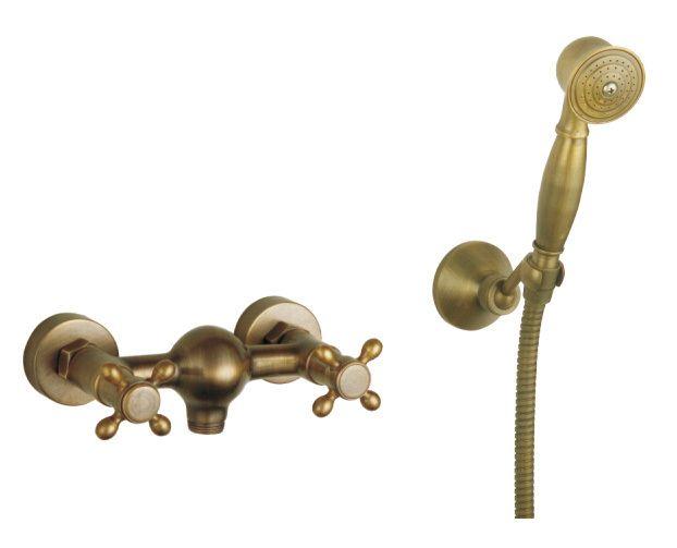 Ванная душевые насадки faucets антикварный бронза антикварный ванная душевая головка и кран hy-697