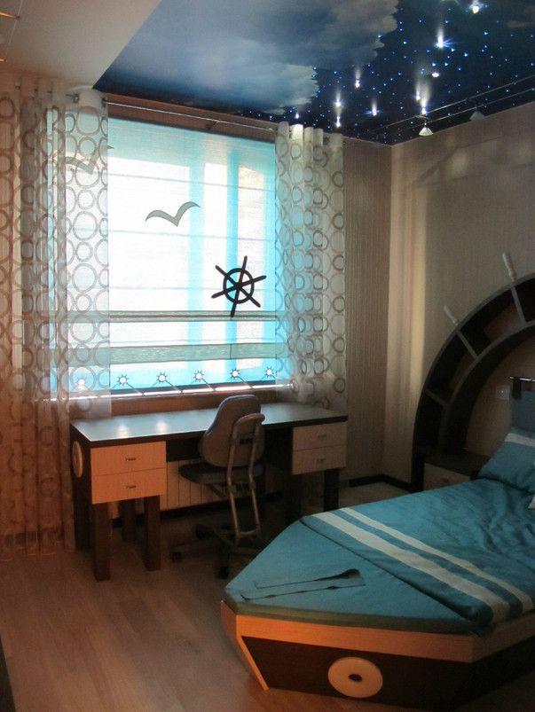 Дизайн интерьера детской комнаты в морском стиле