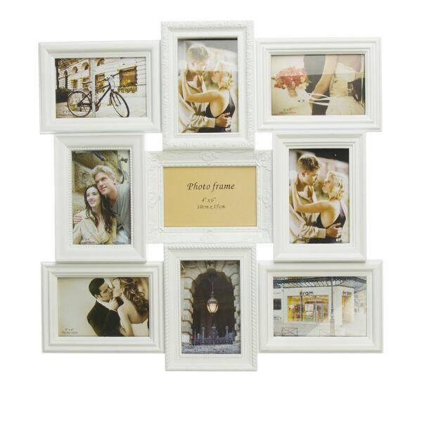 Marco portafotos m ltiple para 9 fotos 10x15cm decorar - Marcos de fotos multiples ...