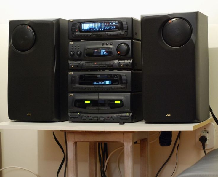 jvc component stereo system stereo equipment hifi. Black Bedroom Furniture Sets. Home Design Ideas