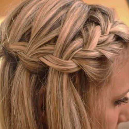 Found it online;)Hair Ideas, French Braids, Hairstyles, Waterfal Braids, Makeup, Beautiful, Hair Style, Waterfall Braids, Side Braids