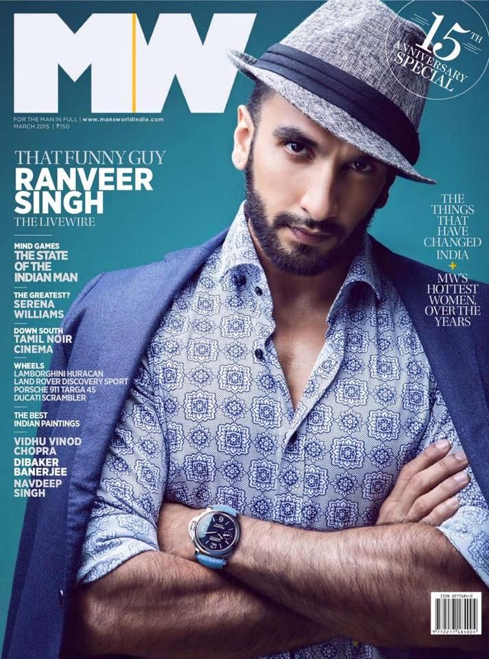 That Funny Guy! Ranveer Singh covers Man's World anniversary issue