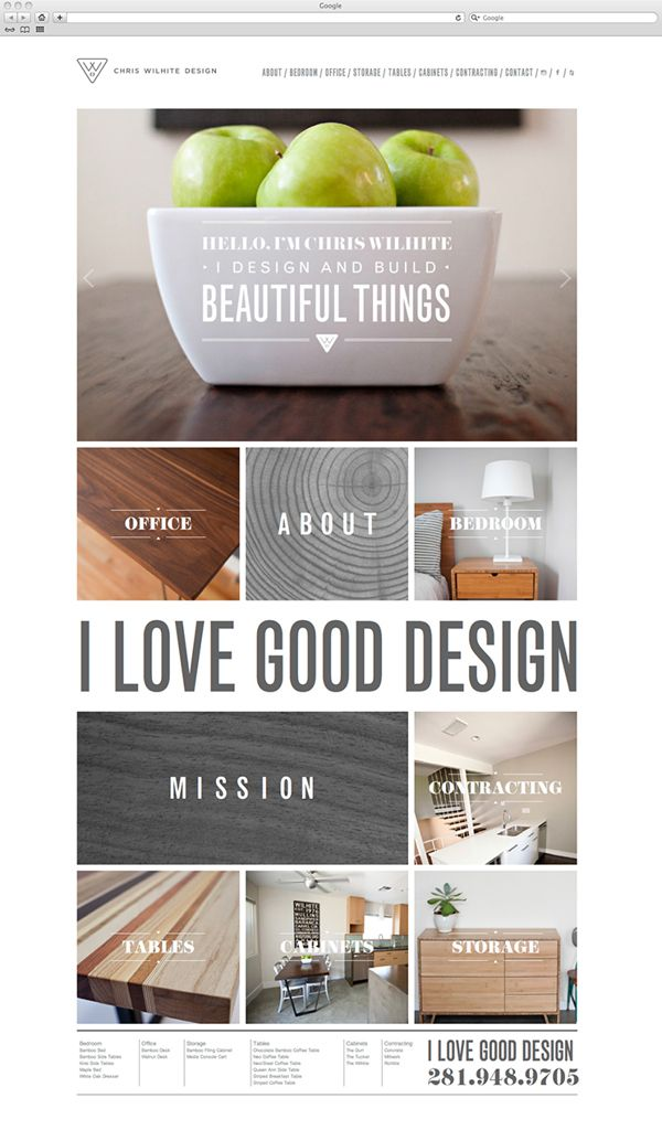 Chris Wilhite Design by Cody Small, via Behance