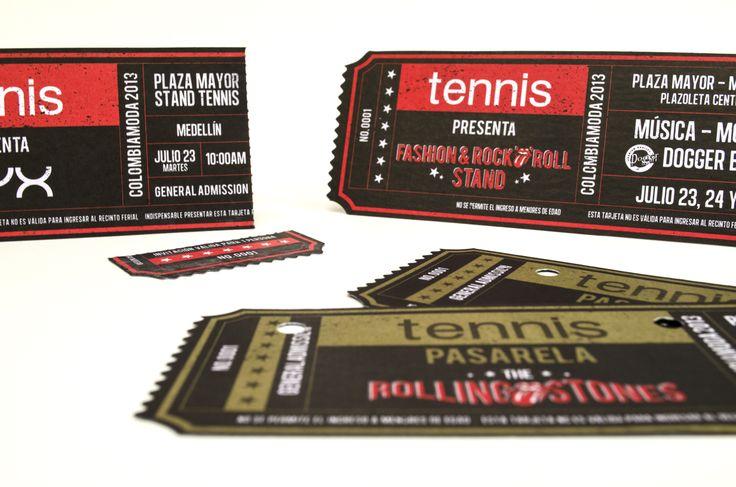 Invitación pasarela Tennis Colombia moda 2013
