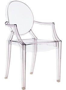 Kartell Louis Ghost Chair Transparent by Philippe Starck
