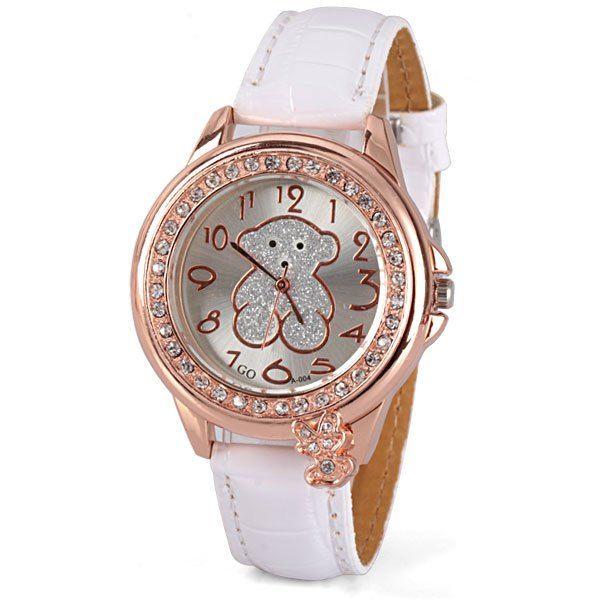 Hermoso reloj con diseño osito Tous, color dorado y blanco. $7.990