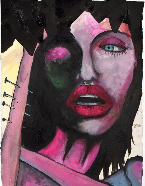 Souvent 35 best marilyn manson paintings <3 images on Pinterest | Marilyn  UR45