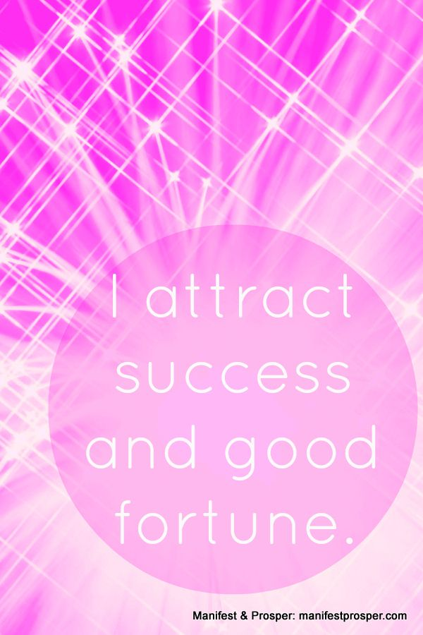 Manifest & Prosper: Success, Good Fortune #lawofattraction #affirmation #success http://www.lawofattractionhelp4u.com/