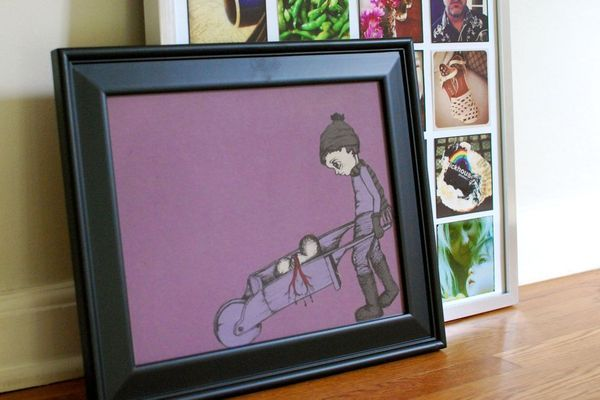 have an old t-shirt you can't bear to part with? FRAME IT. ♥