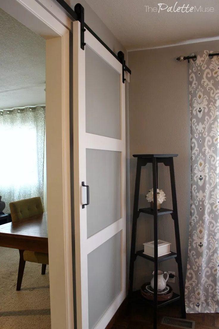 Barn Door In House | Sliding Barn Door For Bedroom | Black ...