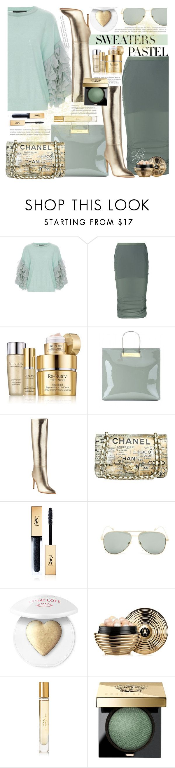 """Mint for Spring"" by olga1402 ❤ liked on Polyvore featuring Tabula Rasa, Rick Owens, Estée Lauder, Balenciaga, GUESS, Chanel, Yves Saint Laurent, Guerlain, Burberry and Bobbi Brown Cosmetics"