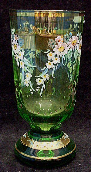 Sklenice zelená na grog medovinu svařené víno malovaná | Kočárky NEC