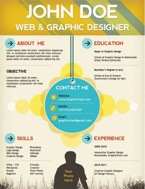 17 best Modern Creative Resumes images on Pinterest Resume ideas - interesting resume templates