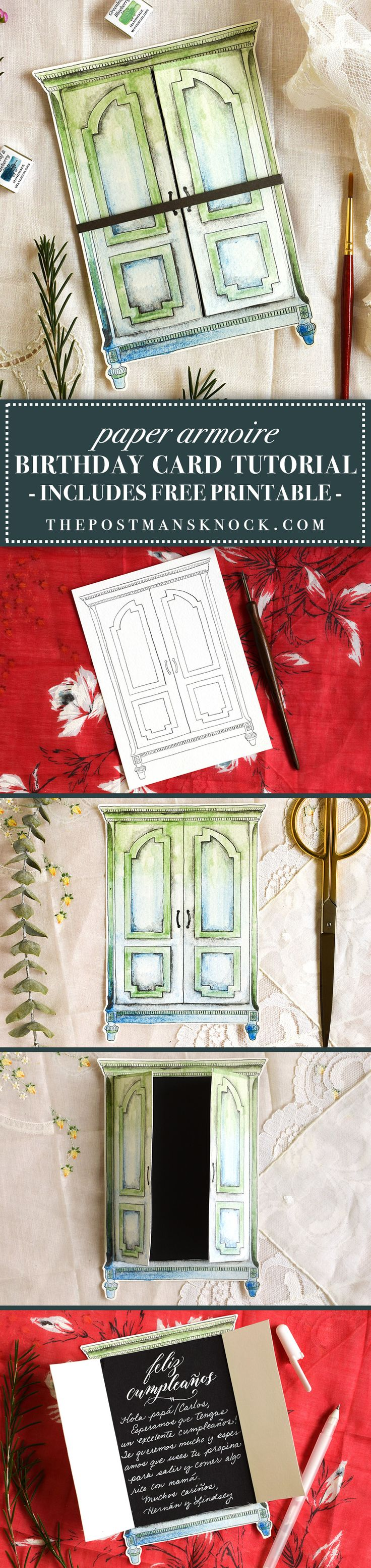 creative birthday card tutorial paper armoire