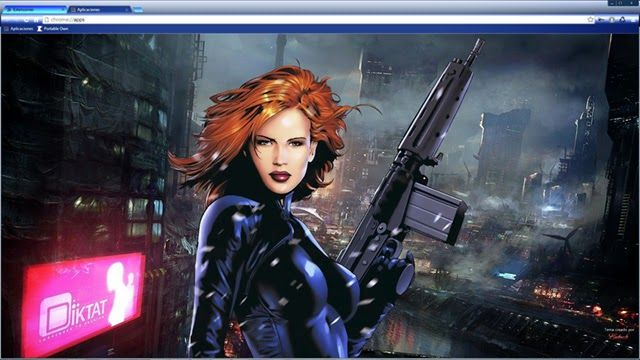 The Black Widow A Theme For Google Chrome Browser.: Portable Own