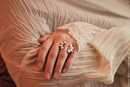 Кольца ручной работы. Ярмарка Мастеров - ручная работа Открытое кольцо Ромашка. Handmade.