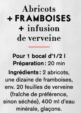 Eau d'été - Abricot + Framboises + Verveine