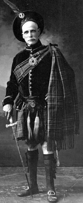 A Black Watch soldier from Glasgow, Scotland -  old image, unknown source.